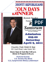 Lincoln Day Dinner Poster 2011