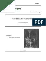 Fertilizantes fosfatados, características y usos