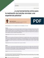 Utilización de una herramienta online para la realización de tutorías remotas