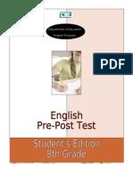 8th Grade Pre-post Test Student's Edition[1]