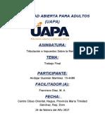 TRABAJO FINAL DE TRIBUTACION E IMPUESTO 2