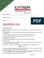Prova de Lingua Portuguesa OMLPM 4 Ano Versão Final Corrigida