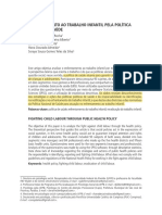 ENFRENTAMENTO AO TRABALHO INFANTIL PELA POLÍTICA PÚBLICA DE SAÚDE