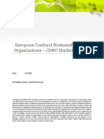 CBDMT Market & Business Intelligence European Contract Bio Manufacturing - CbMO Market Outlook 2011 - ToC Wo Exec