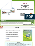 Eco-selection and the Eco Audit Tool - Lecture Unit 12