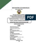 Perfil de proyecto COMPOSICIÓN BOTÁNICA Y CALIDAD DE LA DIETA EN VICUÑA  (VICUGNA VICUGNA)