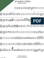 Que Levante La Mano - Trompeta 2da
