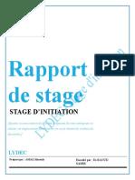 RAPPORT DE STAGE lydec poste electrique