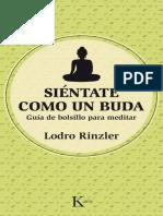Sientate como un Buda - Lodro Rinzler