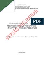 Livreto 5 _ Sistemas de Informação Em Saúde_Registro e Monitoramento Das PICS.
