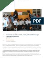 26-06-2019 Inversión en educación, clave para abatir rezago