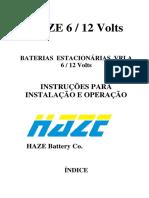 BATERIAS ESTACIONÁRIAS VRLA 6 / 12 Volts