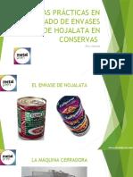 Buenas Prácticas en El Sellado de Envases de Envases de Hojalata en Conserva
