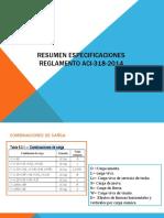Resumen Especificaciones Reglamento ACI-318-2014