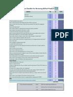 evaluation checklist - sheet1