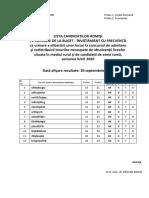 Rezultate 30 Sept 2020-Taxă- 12 Stud La Buget GDPR