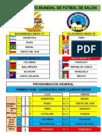 Programacion General X Mundial de Futbol de Salon 2011
