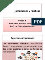 Presentación de la Clase 3 - Relaciones Humanas y Públicas