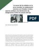 Colombia y la causa de los aliados en la segunda guerra mundial