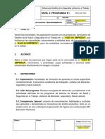PRG-SST-009 Programa de Capacitación