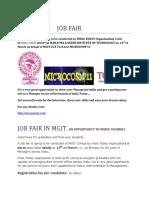 Job Fair in Mgit