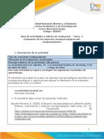 Guía de actividades y rúbrica de evaluación - Unidad 2 - Tarea 4 - Evaluación de los aspectos neuropsicológicos del comportamiento