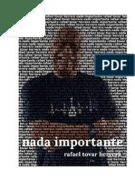 Nada Importante. Rafael Tovar Herrera