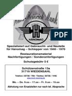 201397187 Hanomag Schlepper Katalog 2009