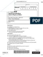 June 2016 (IAL) QP - Unit 2 Edexcel Physics a-level