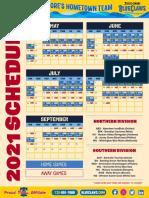 BlueClaws Updated Schedule
