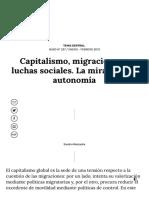Capitalismo, migraciones y luchas sociales. La mirada de la autonomía _ Nueva Sociedad