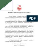 Nota do PCdoB Sobre o Falecimento de Vanderson Luís de Morais - revisado