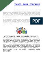 155 ATIVIDADES PARA EDUCAÇÃO INFANTIL