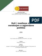 ESE Mediat dhe agjendat politike
