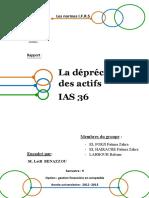 rapport IAS 36