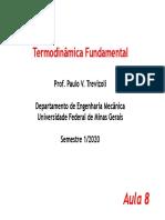 Aula 8 - A Primeira Lei Da Termodinâmica Para Volume de Controle