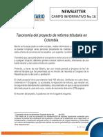 Taxonomía del Proyecto de Reforma Tributaria_WCB