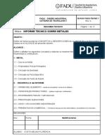 265313055 Informe Tecnico Sobre Metales