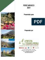 Fiesta Tours Peru, Peru Magico 7d6n - 2021