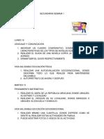 ACTIVIDADES COMPLEMENTARIAS SECUNDARIA 2021