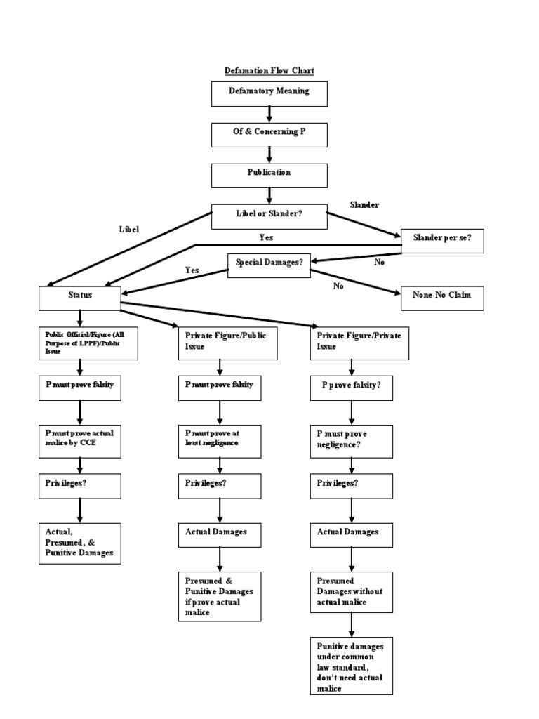 Defamation Flow Chart