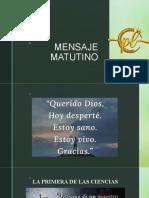 MENSAJE MATUTINO