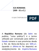 A Republica Romana (509 - 31 A