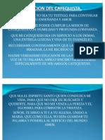 17.-EL ACTO CATEQUETICO
