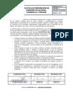 GI-D-11 POLITICA DE PREVENCIÓN DE CONSUMO DE A, C Y DROGAS
