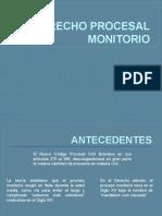 DERECHO PROCESAL MONITORIO