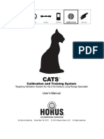 Horus Vision CATS Calibration & Training System Manual