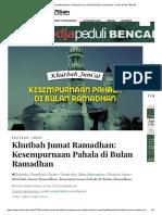 Khutbah Jumat Ramadhan_ Kesempurnaan Pahala di Bulan Ramadhan - Radio Rodja 756 AM