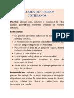 TAREA VOLUMEN Y CAPACIDAD DE CUERPOS GEOMÉTRICOS