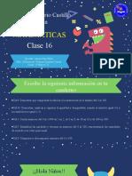 PPT Matematicas clase 16